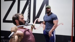 Download TRAINING WITH BRADLEY MARTYN, BACK DAY AT THE ZOO Video