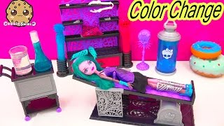 Download Create A Monster High COLOR CHANGER Doll Design Chamber CAM Playset Set Cookieswirlc Video
