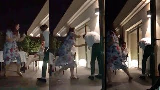Download Akshay Kumar Gets Beaten Up By Wife Twinkle Khanna In Front of Family at House in Juhu Video