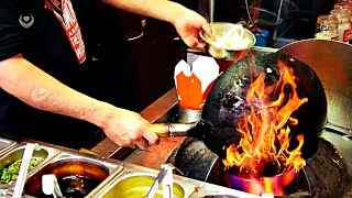 Download Very Fast Cooking in a Chinese Wok. Video