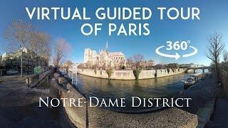 Download [360°/VR Video] Virtual guided tour of Paris : Notre-Dame & l'Ile de la Cité Video