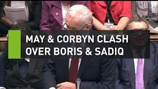 Download May and Corbyn clash over Boris and Sadiq at PMQs Video