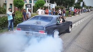 Download Modified cars leaving a car meet (burnouts, accelerations etc) Video