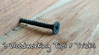 Download 3 Amazing Woodworking Tricks / Tips.. Video