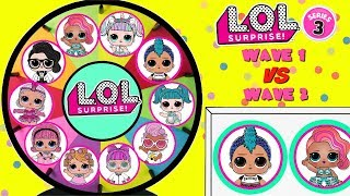 Download LOL SURPRISE Series 3 Wave 1 VS Wave 2 Spinning Wheel Game Toy Surprises Video