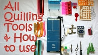 Download 14 Quilling Tools Demo & How to Use Basic Quilling Tools | Tutorial Video