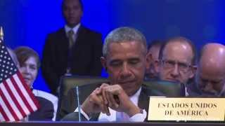 Download Raul Castro stands up for Obama at Summit of the Americas Video