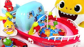 Download Baby Shark Gets a Cooking & Fishing Boat! Let's go to the sea~! - PinkyPopTOY Video