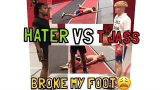 Download I BROKE MY FOOT PLAYING 1 ON 1 VS HATER??? Video