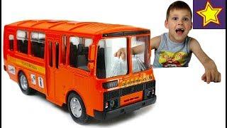 Download Машинки Автобус ПАЗ Техпомощь Ремонтируем колесо грузовичка Car toys for children Video