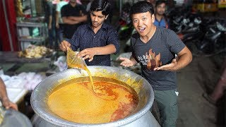 Download INSANE Mutton Soup & BEST Masala Dosa at 3 AM! Street Food Tour of Hyderabad India Video