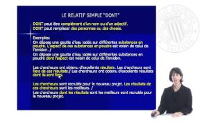 Download Les pronoms relatifs simples | | UPV Video