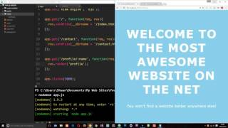 Download Node JS Tutorial for Beginners #25 - Template Engines Video