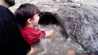 Download Noodling - Teaching 8yr old Son How to Noodle Catfish. Catching Fish by Hand. Video
