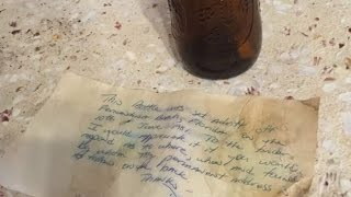 Download Man Finds Message in a Bottle 36 Years After It Was Tossed Into the Ocean Video
