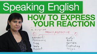 Download Speaking English: How to express your reaction Video