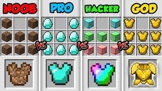 Download Minecraft NOOB vs. PRO vs. HACKER vs. GOD: SUPER ARMOR in Minecraft MAP! (Animation) Video