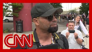 Download CNN reporter presses far-right rally leader in Portland Video