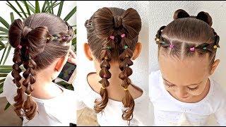 Download Penteado Infantil com laço de cabelo, tranças falsas e ligas coloridas Video