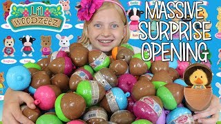 Download HUGE Surprise Toy Egg Opening with Lil Woodzeez Video