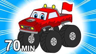 Download ″Monster Trucks Colors & Counting″ | Kids Learn, 3D Color Balls, Suprise Eggs, Police Cars & Toys Video