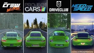 Download DriveClub vs. Need For Speed vs. The Crew vs. Project CARS | Graphics, Rain & Weather Comparison PS4 Video