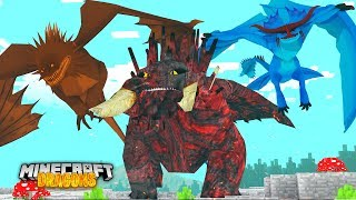 Download THE RARE ELEMENT DRAGONS... EARTH, WIND AND FIRE   Minecraft DRAGONS w/ Little Kelly Video