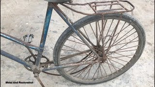 Download Restoration bicycle old | Restore bike Rusty | Antique cyclist restoration Video