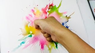 Download Splatter Punch : Wet in wet Watercolor Technique Video