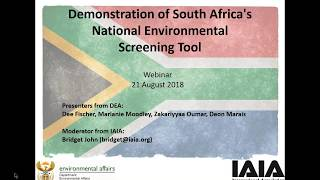 Download Demonstration of South Africa's National Environmental Screening Tool Video