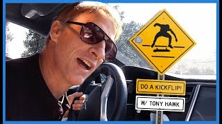 Download Watch Legend Tony Hawk Yelling ″Do A Kickflip!″ At Skateboarders From His Car Video
