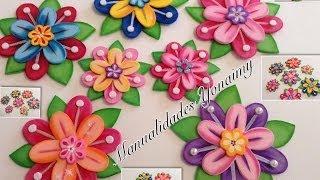 Download FLORES DE PRINCESA EN FOAMY O GOMA EVA.- PRINCESS FLOWERS Video