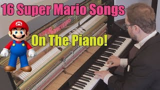 Download 16 Super Mario Songs on Piano Video
