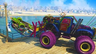 Download HE WAS NOT HAPPY ABOUT THIS! *MONSTER TRUCK TROLLING!* | GTA 5 THUG LIFE #196 Video