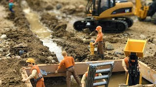 Download BRUDER TOYS tractors adn trucks construction - WATER PIPE!   Construction toys   Kids video Video