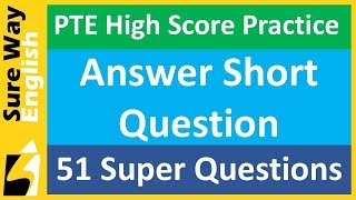 Download PTE Answer Short Question | 51 High Score Practice Questions Video