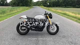 Download Triumph Thruxton R with Vance & Hines Exhaust (De-Cat & X-Pipe) Video