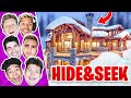 Download CRAZY GAME OF HIDE AND SEEK IN SNOWY CABIN MANSION!! Video