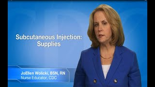Download Subcutaneous (SC or Subcut) Injection: Supplies Video