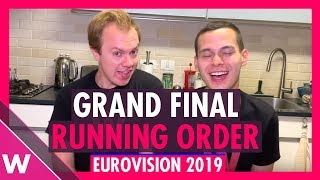 Download Eurovision 2019: Grand Final Running Order (Reaction) Video