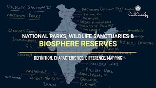 Download BIOSPHERE RESERVES, NATIONAL PARKS, WILDLIFE SANCTUARY || Definition, Characteristics, Mapping Video