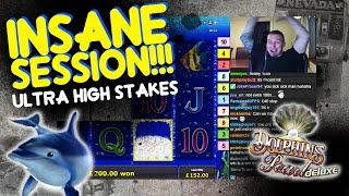 Download ULTRA HIGH Stakes Dolphins Pearl Bonuses!!!!! Video