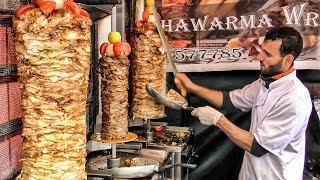 Download Triple Shawarma Tasted in London Leather Lane Market. World Street Food Video