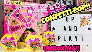 Download UNBOXING LOL SURPRISE CONFETTI POP SERIES 3 | BIG SISTERS | OPENING L.O.L SURPRISE TOTS DOLLS!! Video
