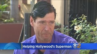 Download Fans Help Hollywood Boulevard's Original 'Superman' Fight Back From Homelessness Video