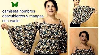 Download DIY:CAMISETA DE HOMBRO DESCUBIERTO Y MANGA CON VUELO Video