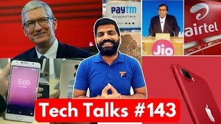Download Tech Talks #143 - Jio-AirTel WAR, PayTm Insurance, Idea Redmi 4A Offer, iPhone 7 Red, S8 Live Video