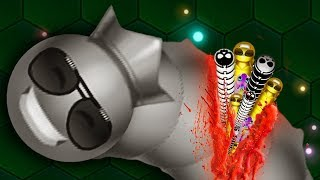 Download Wormax.io © GOLDEN HACKER WORM vs 14600 WORMS! // Epic Wormaxio Gameplay (Wormaxio Funny Moments) ✓ Video