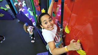 Download Indoor Playground For Kids! Wall Climbing Challenge | Toys AndMe Video