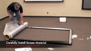 Download Black Diamond Fixed Projector Screen Install Video